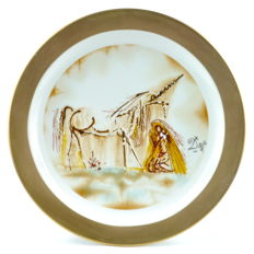 "Salvador Dalí ""The Dalinian Horses"" porcelain plate ""The Unicorn"", 1981"