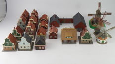 Faller/Pola Scenery H0 - Collection of 19 Buildings incl. mills, farm and houses