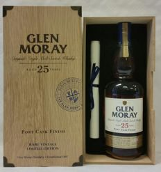 Glen Moray 25 years old - Vintage 1988 - Port Cask Finish - Rare Vintage Limited Edition