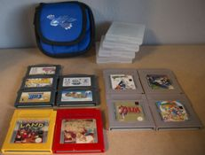 Collection / Lot of 11 orginal Gameboy games + Kyogre Gameboy Case - Games like Pokemon, Donkey Kong, Zelda, Super Mario and more