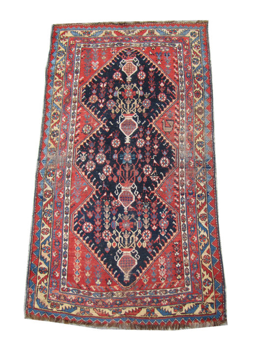 Nice antique Kurdish Persian carpet handmade 115 x 200 cm