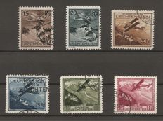 Liechtenstein - airmail stamp set F1-F6 complete - Michel 108-113
