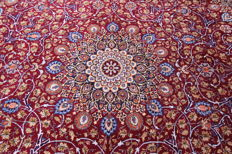 Fine Persian carpet Kashmar 3.90 x 3.00 red hand-knotted in Iran high-quality new wool oriental carpet TOP CONDITION