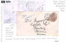 Great Britain 1891 - Postal Stationery 1d Pinks
