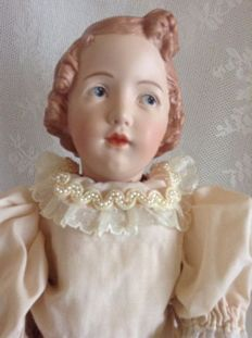 Lovely Heubach character doll with closed mouth after old model