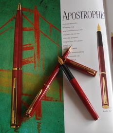 A very nice pens set Red-Brown Classic tabby (fountain pen + ball pen)