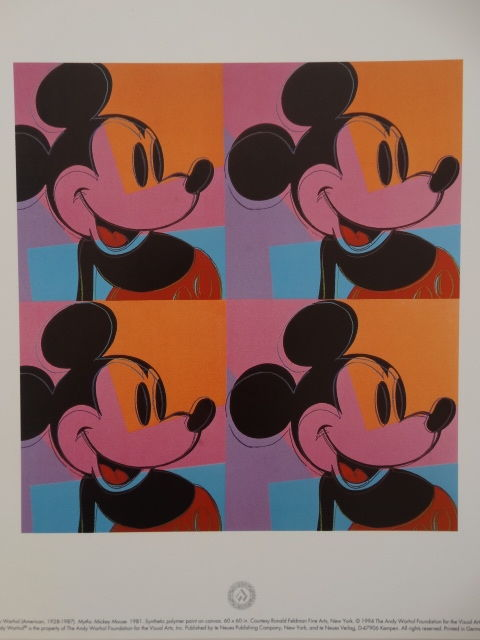 6 x Andy Warhol - Mickey Mouse
