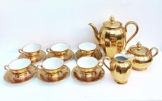 Schaller & Co, Bavaria golden 24 K Coffee Set