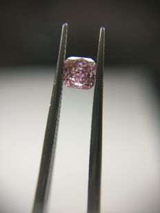 0.20 ct Cushion cut diamond Fancy Deep Brownish Purple Pink