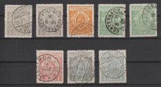 Luxembourg 1883 - Telegraph stamps - Michel 1A, 1B, 2A, 3A, 3B, 4A, 5A, 5F