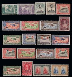 Spain 1905/1949 - Lot with 385 stamps First Centenary.