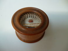 Antique palm wood (box wood) travel-relic J.C. Cornay - 19th century