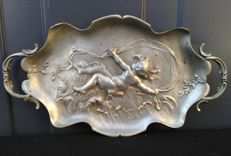 Auguste Moreau (1834-1917) - pewter dish - vide poche - France - late 19th century