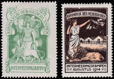 The Netherlands 1916 – Internment camp stamp – NVPH IN1/IN2