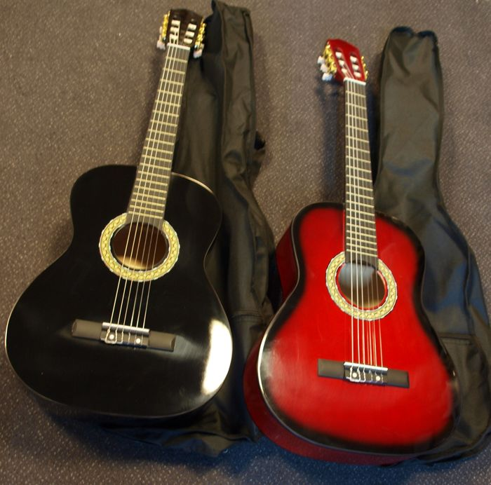 2x New Martinez classical guitar 4/4 classic, both with tuning whistle and cover