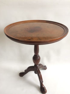 Wine table with inlaid walnut top, second half of the 20th century
