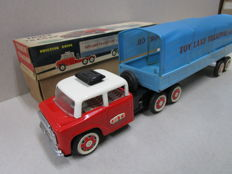 "STF, China - Length: 42 cm - ""Truck with Trailer"" MF - 764 red with friction drive, 70s"