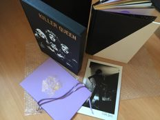 Queen- Killer Queen - Collectors limited luxe edition signed Brian May-Roger Taylor -Mick Rock  and a photo of Freddy signed by Mike Rock Genesis Publications number 61 of edition of 350