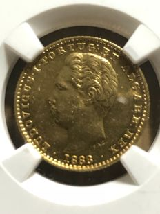 Portugal – Monarchy – D. Luís I – 2,000 Réis 1888 – Gold – NGC – Extremely Rare