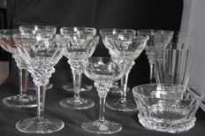 Jan Eisenloeffel for Kristalunie Maastricht - 11 cut crystal glasses