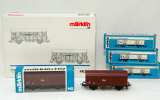 Märklin H0 - 46271/4402/4639 - 7x goods wagons of the NS