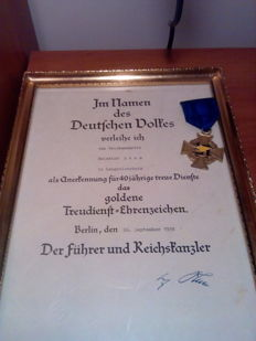 40 Years of Service Award and Letter of Thanks