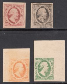 The Netherlands 1852 - King Willem III - Moesman reprints of the 10 cent plate IV and lithographic reprint plate V