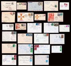 Spain 1939/1980 - Lot of 25 letters, postal history of Valladolid.