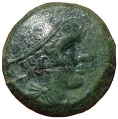 Roman Republic - Anonymous, 'Semilibral Prow series' c. 217-215 BC - Æ Semuncia (20mm; 7,58g.), Rome mint - Head of Mercury / Prow - Cr. 38/7; Syd. 87