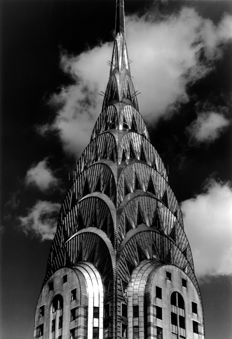Teun Voeten (1961-) - Chrysler Building in Cloudy Sky, New York, 1989