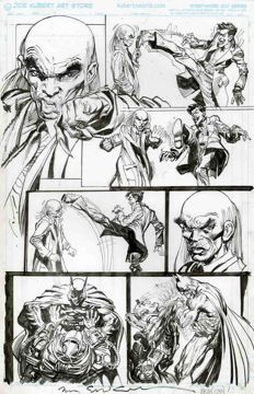 Original Art Page by Neal Adams and Bill Sienkiewicz - DC Comics - Batman: Odyssey no. 6, page 13 - (2011)