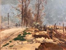Eugène-Louis Gillot (French, 1867-1925) - Route de Trouville a Courbessac