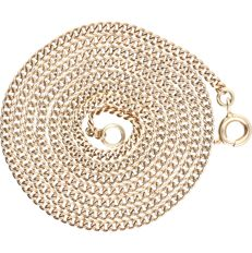 14 kt - Yellow gold curb link necklace - length: 51 cm