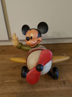 Disney, Walt - Figure - Mickey Mouse in plane (c. 1980s)