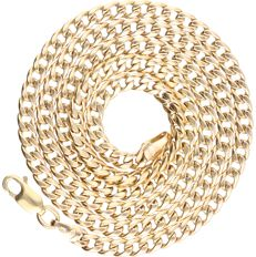 14 kt yellow-gold curb-link necklace - length: 50 cm