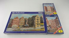 Pola H0 - 2058/478/479 - Three build kits of canal-side houses in total 5 houses