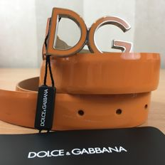 Dolce & Gabbana – Orange Leather Belt
