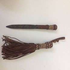 Tribal Sacrificial Knife Disguised as a Small Broom - Portuguese Colony
