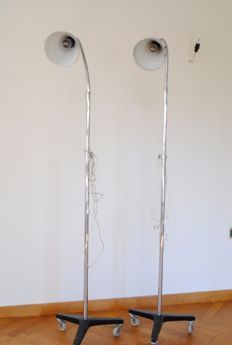 Christian Dell for Bünte & Remmler – set Bauhaus industrial floor lamps