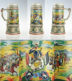 Antique German reservist Beer Mug Cavalry Uhlan regiment Potsdam 1908/1911