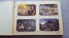 Album with religious postcards with Biblical images of the old and new testament. Painter R. Leinweber. Complete series 120 x and 20 x religious cards. with a total of 140X