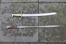 German short sword Model 1871 and Mauser bayonet model 1898 length 645 mm (pretty rare)