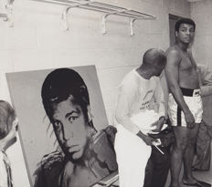 Unknown/Associated Press - Muhammad Ali and his Andy Warhol portrait, Madison Square Garden, New York, 1977