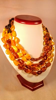 Vintage 100% Genuine long Baltic Amber necklace, 107 grams