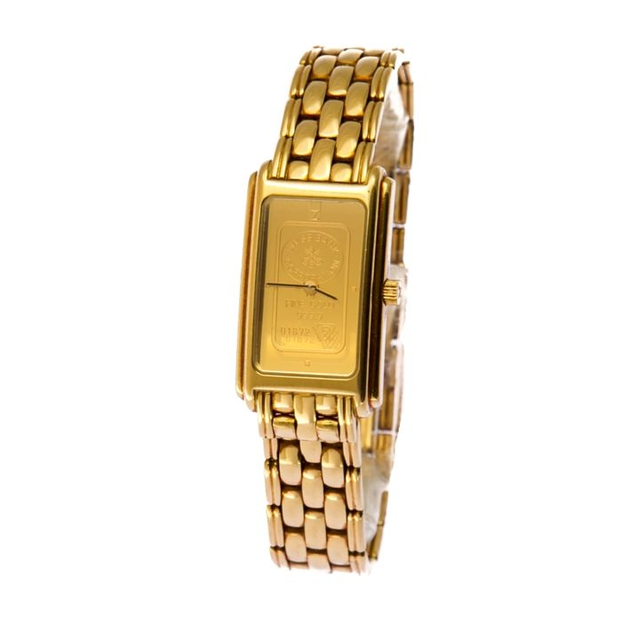 zitura women watch 999 gold swiss - new 6990 euro - 56 gr only is gold worth 1700