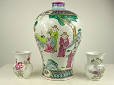Lot of porcelain vases - China - ca. 1970