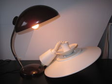 Bauhaus style desk lamp and Lyfa pendant ceiling light