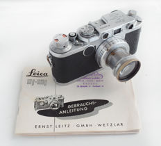 Leica IIF (680870) 1954 with 1:2 f=5cm Summar lens, with original manual
