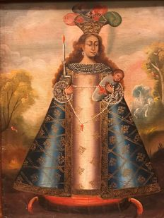 """Cuzco Colonial School (19th century) - """"Our Lady of Belen of Cusco"""""""