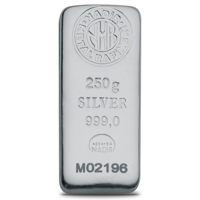 250 Fine Silver Bar,  *** NO RESERVE PRICE  ***